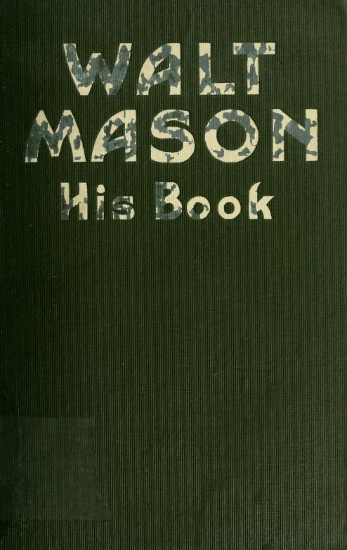 Walt Mason - Walt Mason : his book