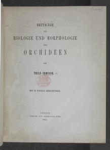 Cover of: Beitrage zur Biologie und Morphologie der Orchideen by Johann Friedrich Thilo Irmisch