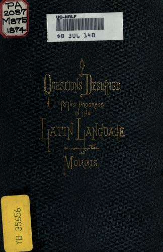 Cover of: Probatio latina by Charles D'Urban Morris