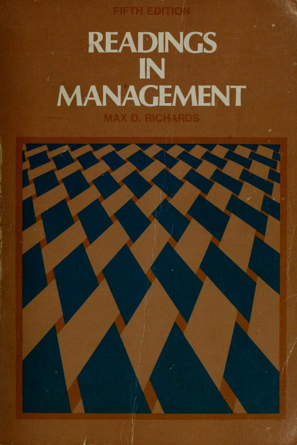 Readings in management by Max De Voe Richards